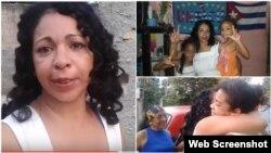 Aimara Nieto Muñoz se encuentra con sus hijas.
