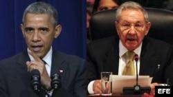 El presidente estadounidense y el general Raúl Castro.