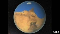 Científicos europeos aseguran que el agua se acumuló en Marte por efecto del deshielo.