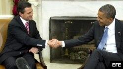 Barack Obama y el presidente de México, Enrique Peña Nieto, se reunieron por primera vez en noviembre pasado en la Casa Blanca.