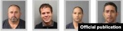 Cubanos detenidos en Colorado por cultivo ilegal de marihuana: Izq. a der Francisco José Sánchez; José Alberto González; Sergio Luis Martínez Suárez y Yoandris Bacallao Ramos