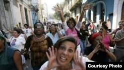 Un acto de repudio en Cuba.