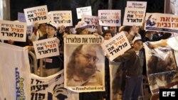 Manifestación por la libertad de Pollard.