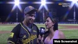 Hassan Peña, entrevistado por DirectTV Sports.