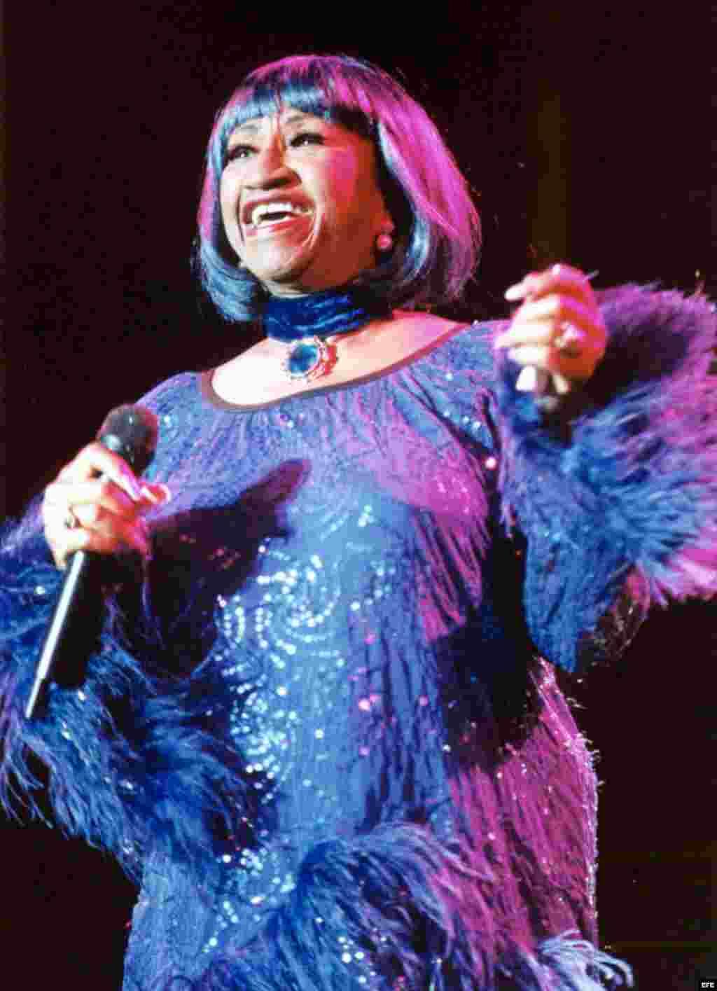 la cantante cubana Celia Cruz/ Foto de archivo