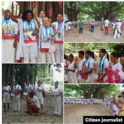 Reporta Cuba. Damas de Blanco. Foto: El Sexto (cortesía).