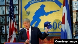 Pres. Trumps visits HQ and Memorial of Bay of Pig's 2506 Brigade in Miami
