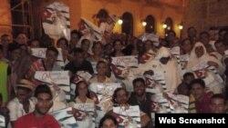 Grupos de jóvenes católicos por las calles de La Habana.