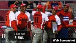 El equipo de pelota cubano obtuvo su segundo triunfo en la Liga Internacional Can-Am.