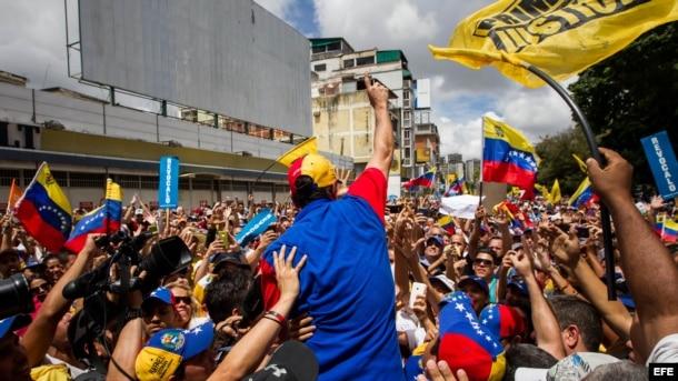 """La """"Toma de Caracas"""" en imágenes"""