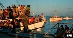 Éxodo del Mariel, en el que llegaron a Miami más de 125.000 cubanos. Archivo.