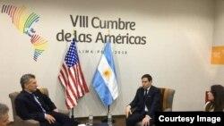 Rubio con el presidente argentino Mauricio Macri.