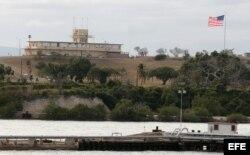 Edificio usado como sede de los tribunales de justicia especiales de Guantánamo. Archivo.