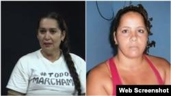 Las Damas de Blanco Daysi Artiles y Maylén González.