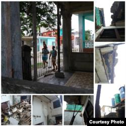 Casa que sufrió derrumbe parcial