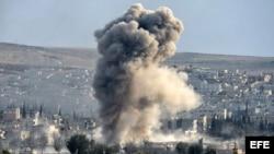 Ataque de las fuerzas de la coalición lideradas por Estados Unidos. Archivo.