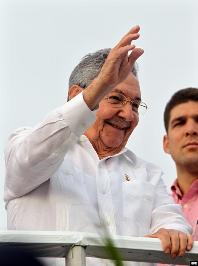 Raúl Castro el 1 de mayo de 2013.