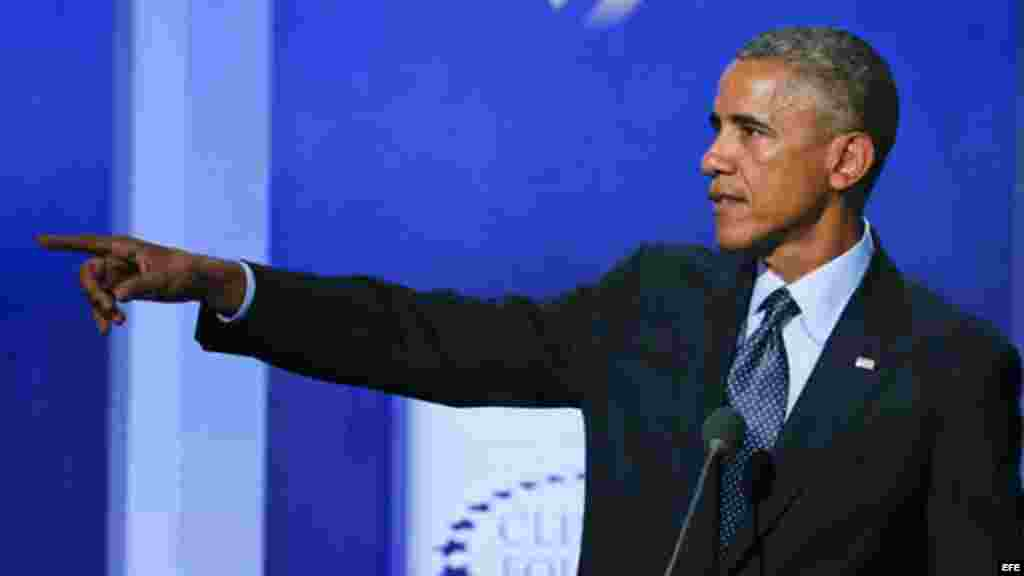 Obama asiste a la Iniciativa Global Clinton