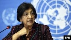 La Alta Comisionada de la ONU para los Derechos Humanos, Navi Pillay.