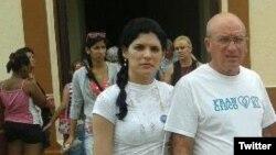 Saily Navarro y su padre Félix Navarro (Foto Archivo)