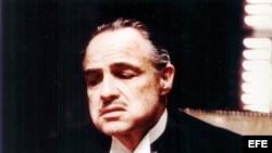 """Marlon Brando durante una de las escenas de """"The Godfather"""""""