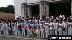 Reporta Cuba Damas de Blanco Noviembre 2 Habana Foto Angel Escobedo.