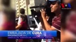 """Manifestantes gritan: """"¡Cuba Sí, Castro No!"""""""