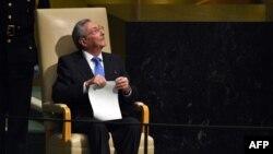 Raúl Castro en la 70 Asamblea General de Naciones Unidas.