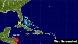 Se forma frente a Nicaragua ciclón tropical Nate.
