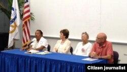 Recuerdan a presos políticos en el Miami Dade College