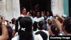 Berta Soler ratificada como líder de las Damas de Blanco, marzo 2015.