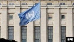Foto de archivo del edificio de la ONU en Ginebra, Suiza.