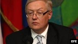 El viceministro de Asuntos Exteriores de Rusia, Serguei Riabkov (Archivo).