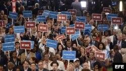 Convención del partido Demócrata en el Time Warner Cable Arena en Charlotte (EEUU)