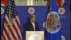 John Kerry pide a la OEA respeto para los derechos humanos en Cuba