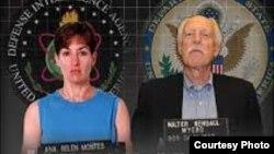 Espías castristas Ana Belén Montes y Walter Kendall Myers.