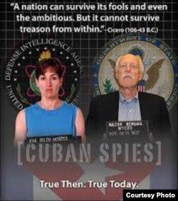 Ana Belén Montes y Walter Kendall Myers, espías de Cuba infiltrados en el Pentágono y el Departamento de Estado.