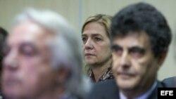 La infanta Cristina en el juicio que juzga el presunto desvío de 6,6 millones de dólares de fondos públicos.
