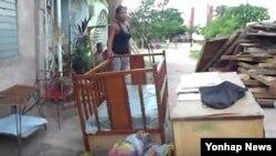 Desalojos de familias en Santiago de Cuba.