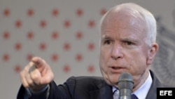 El senador estadounidense John McCain. Foto de archivo