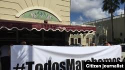 En Miami #TodosMarchamos para apoyar a la oposición en Cuba