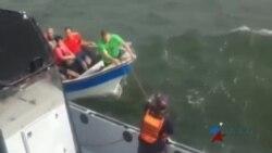 Armada Nacional de Colombia rescata una treintena de migrantes cubanos