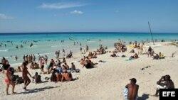 Fotografía de archivo de la playa de Varadero, en la provincia de Matanzas.