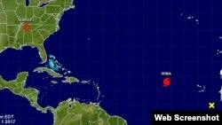 Huracán Irma alcanza categoría 3 en el Atlático.