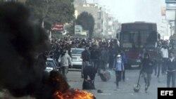 Dos muertos y 13 heridos durante las protestas en Egipto.