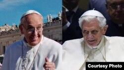 Bergoglio, el argentino y Ratzinger. el alemán. El Gran Arbitro allá arriba ¿por quién se inclinará?