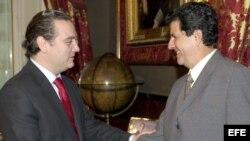 Oswaldo Payá durante su visita a España en el 2002