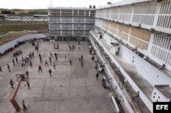 Vista general del patio de la prisión Combinado del Este.