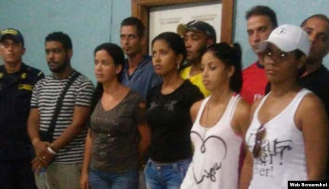 Cubanos detenidos en Choluteca, Honduras.