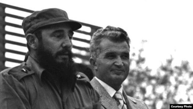Fidel Castro y Nicolae Ceausescu en 1972.